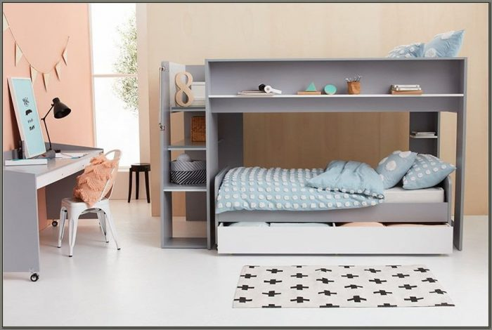 Desk And Bed Combo