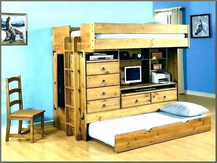 Desk Bunk Bed Combo