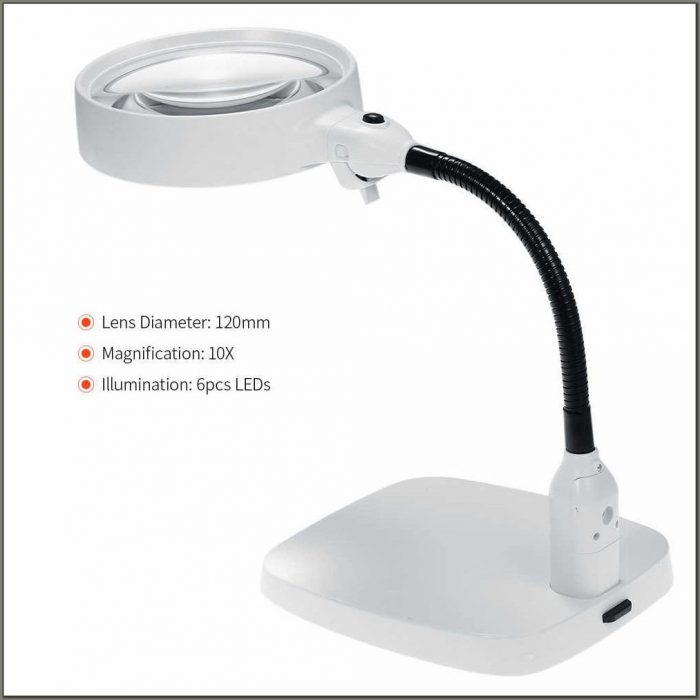 Desk Lamp With Magnifier