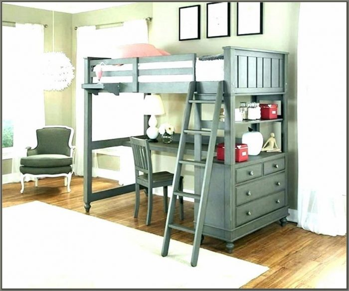 Diy Twin Loft Bed With Desk