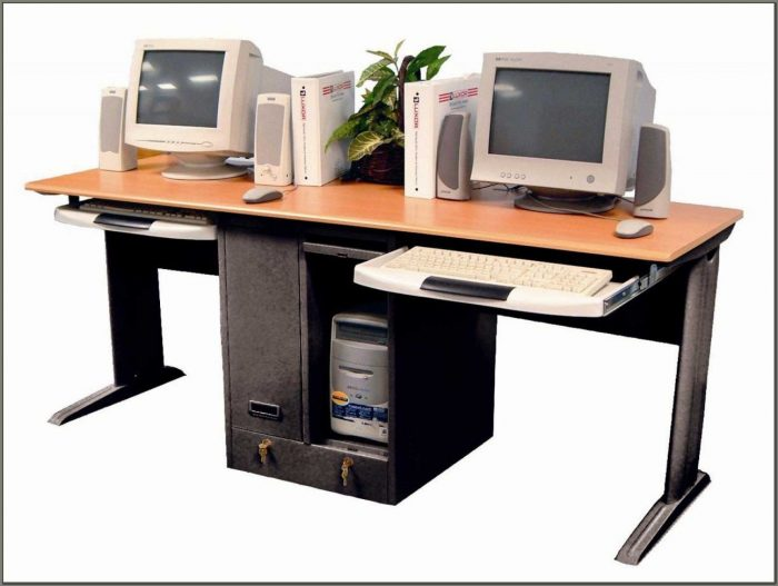 Double Desks For Home Office