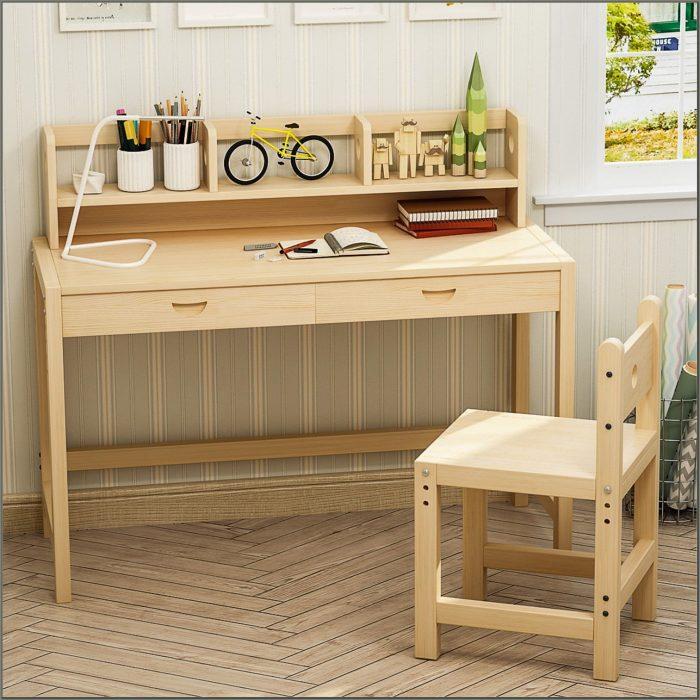 Kids Study Desk With Hutch
