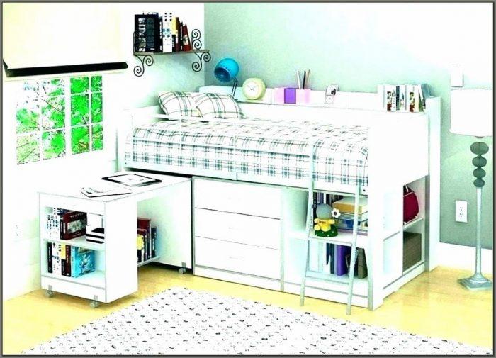King Single Loft Bed With Desk