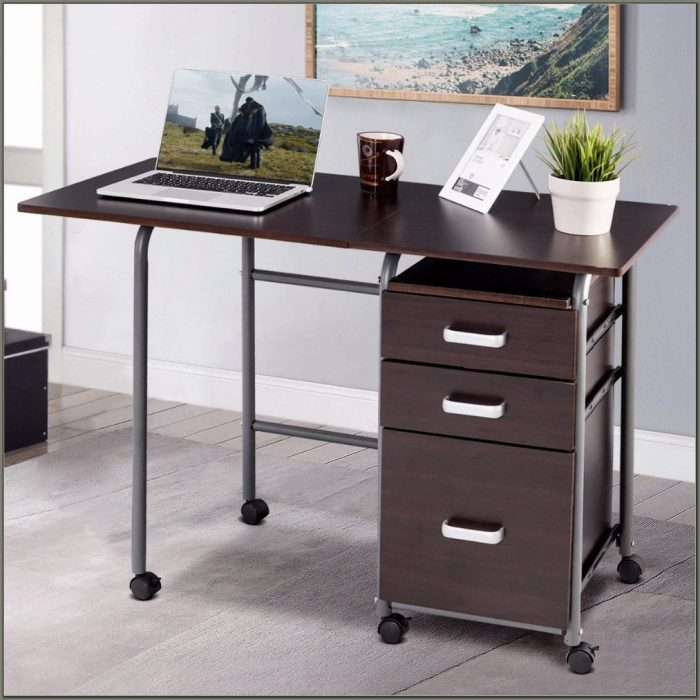 Laptop Desk With Drawers