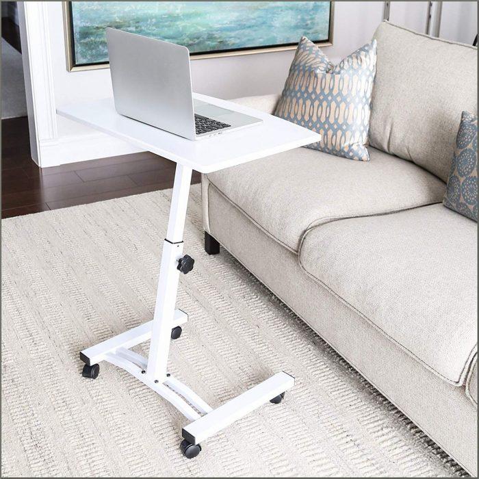 Mobile Laptop Desk Cart By Seville Classics