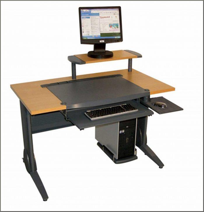 Oak Hideaway Computer Desks For Home