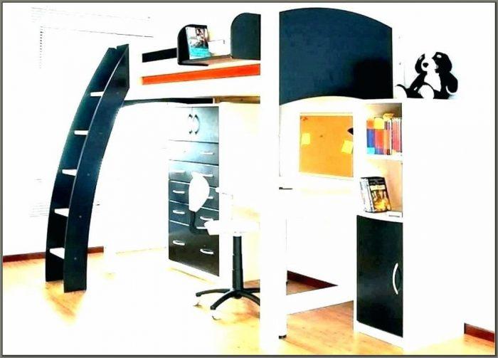 Queen Bunk Bed Desk Combo