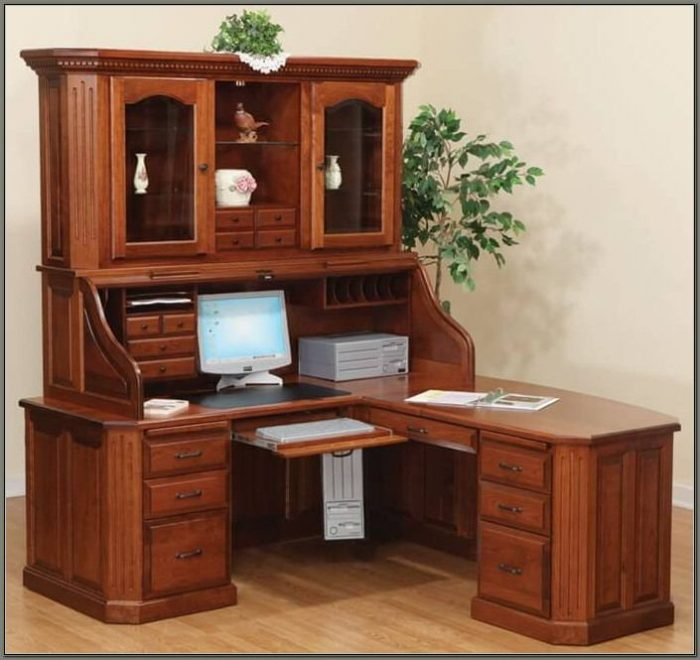 Roll Top Desk With Hutch
