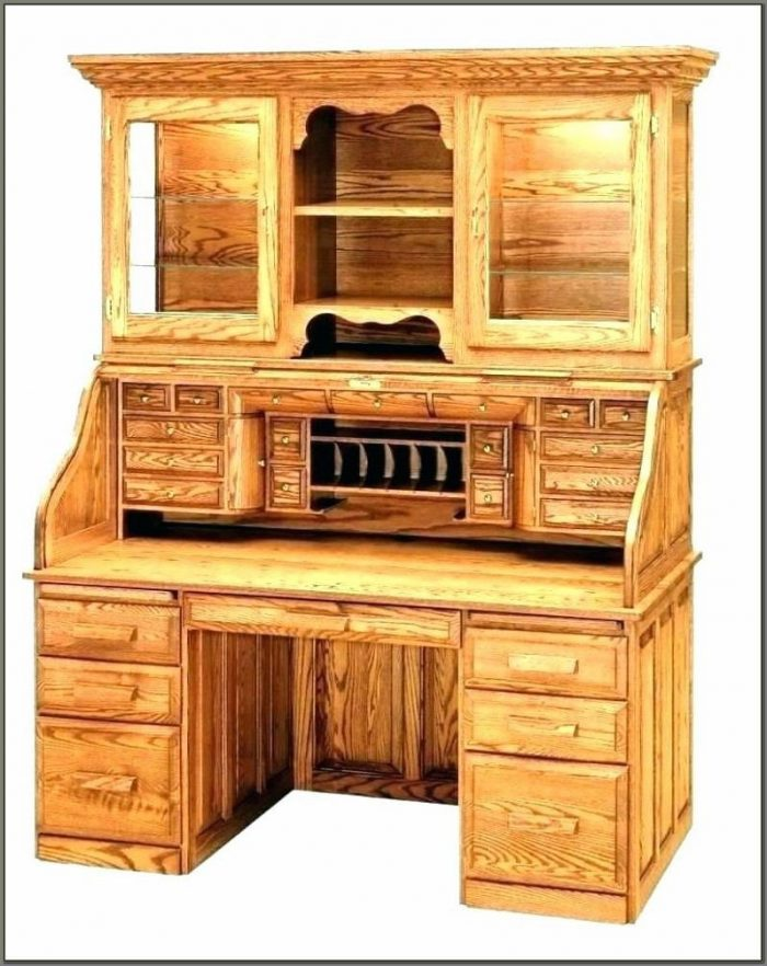 Solid Wood Corner Desk With Hutch