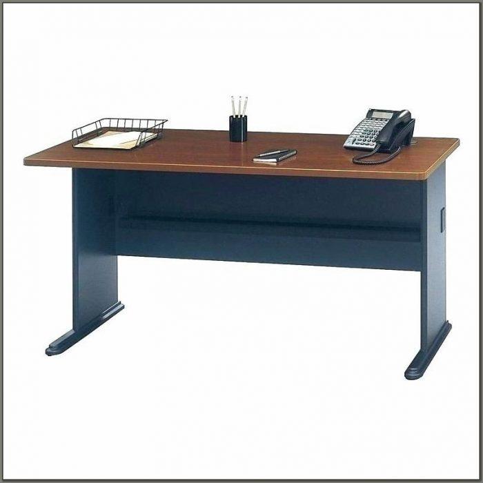 Staples Blue Glass Computer Desk