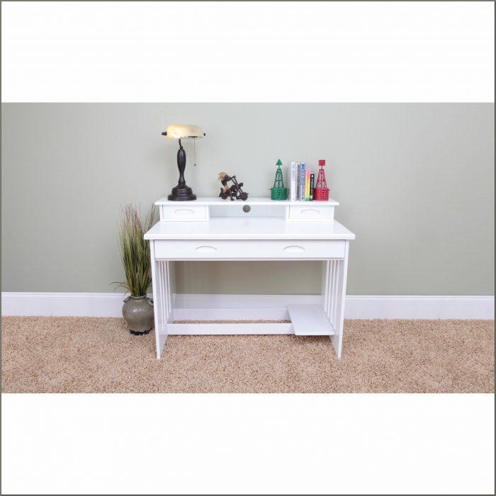 Student Desk With Hutch White