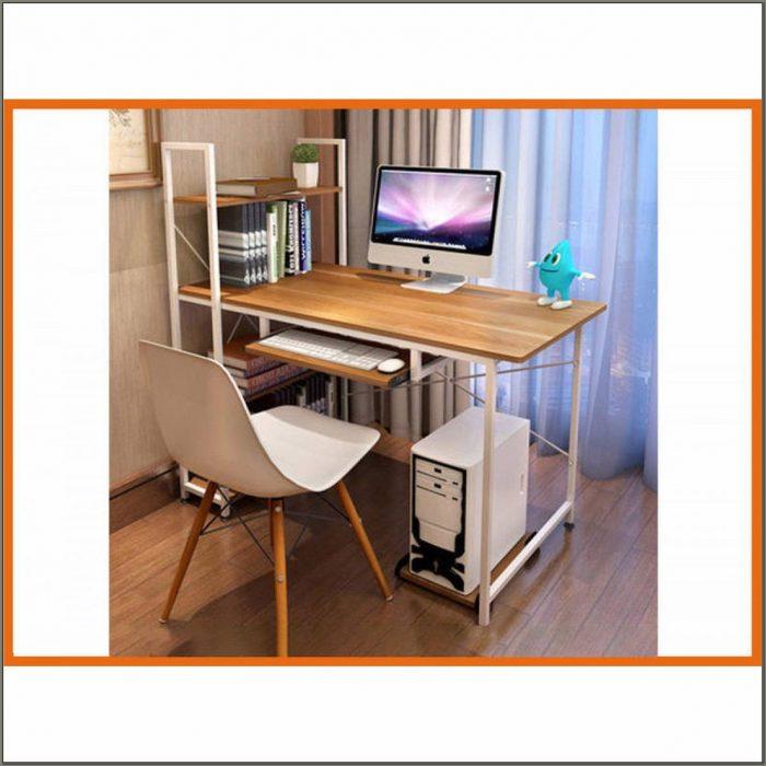 Study Desk With Bookshelf