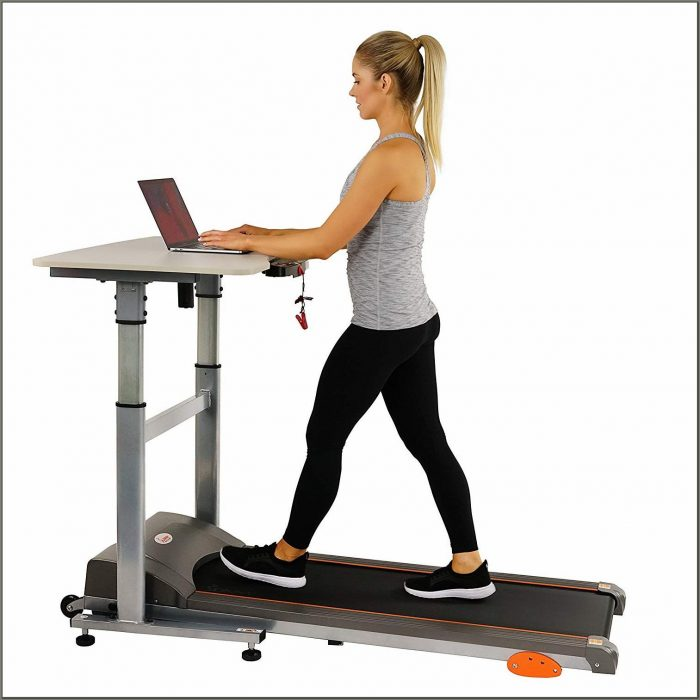 Treadmill With Desk Workstation