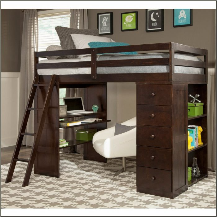 Twin Loft With Desk And Storage