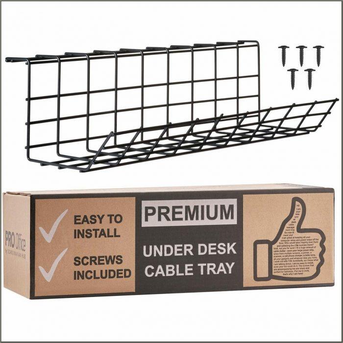 Under Desk Cable Organizer Tray