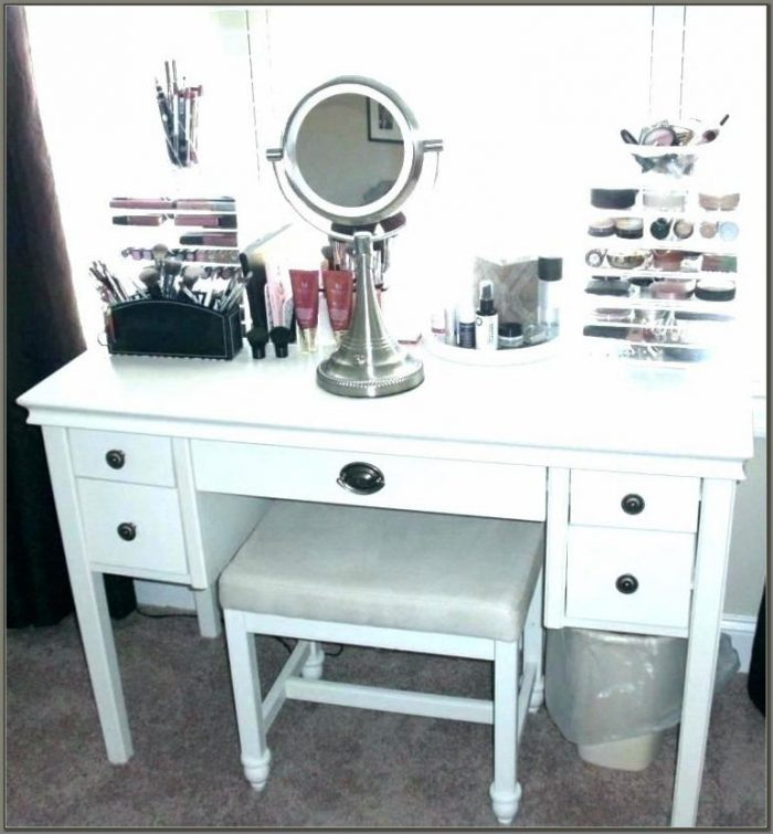 Vanity Desk With Drawers On Both Sides