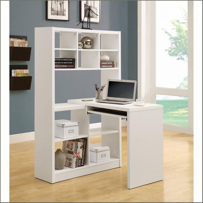 White Corner Desk With Hutch