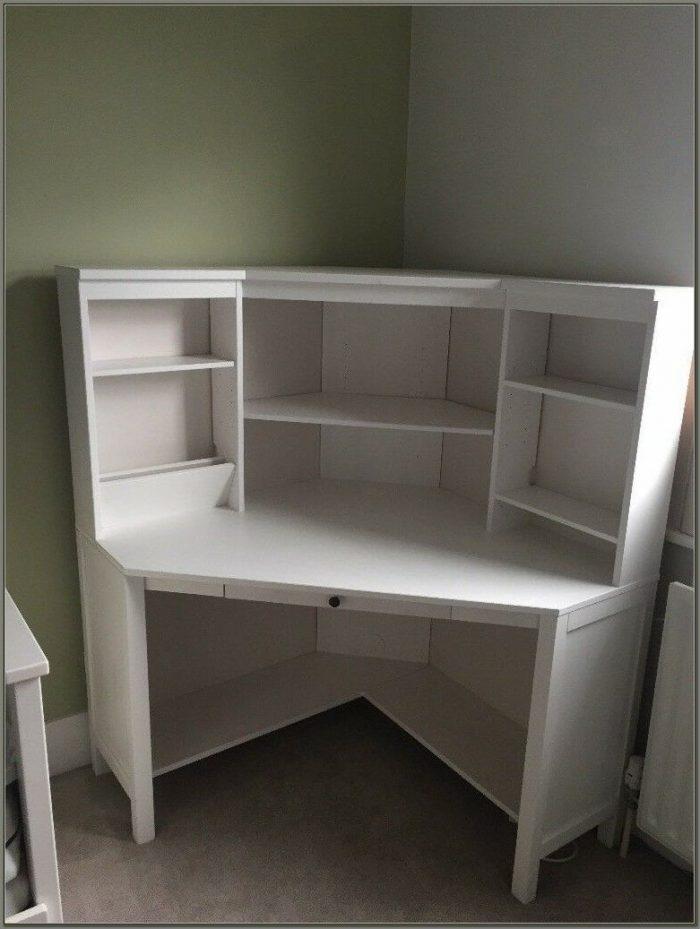 White Corner Workstation Desk