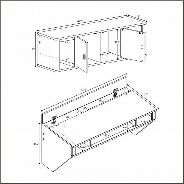 White Desk And Hutch Set