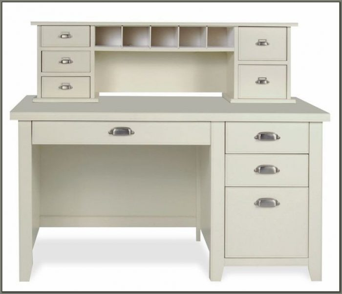White Desk With Drawers And Hutch