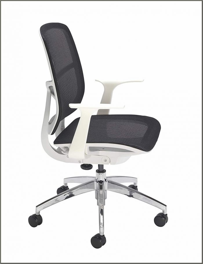 White Swivel Desk Chair With Arms