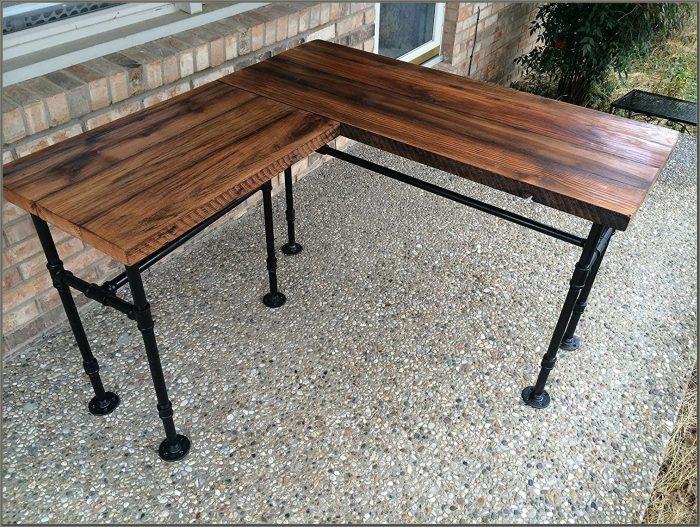 Wood Desk With Metal Legs