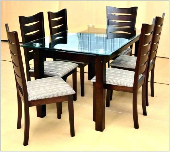 6 Chair Dining Room Table Set