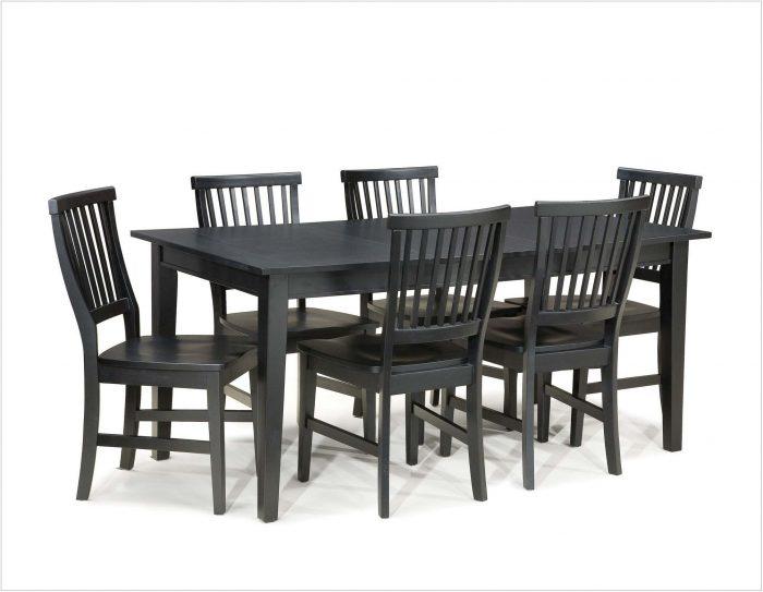 7 Piece Black Dining Room Table Set