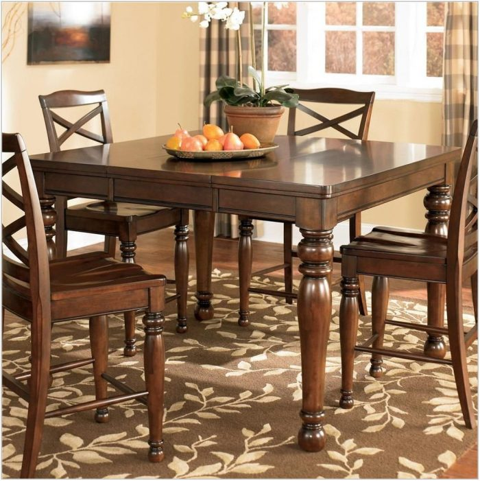 Ashley Furniture Counter Height Dining Room Table