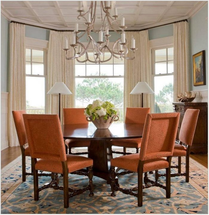 Bay Window Curtains Dining Room