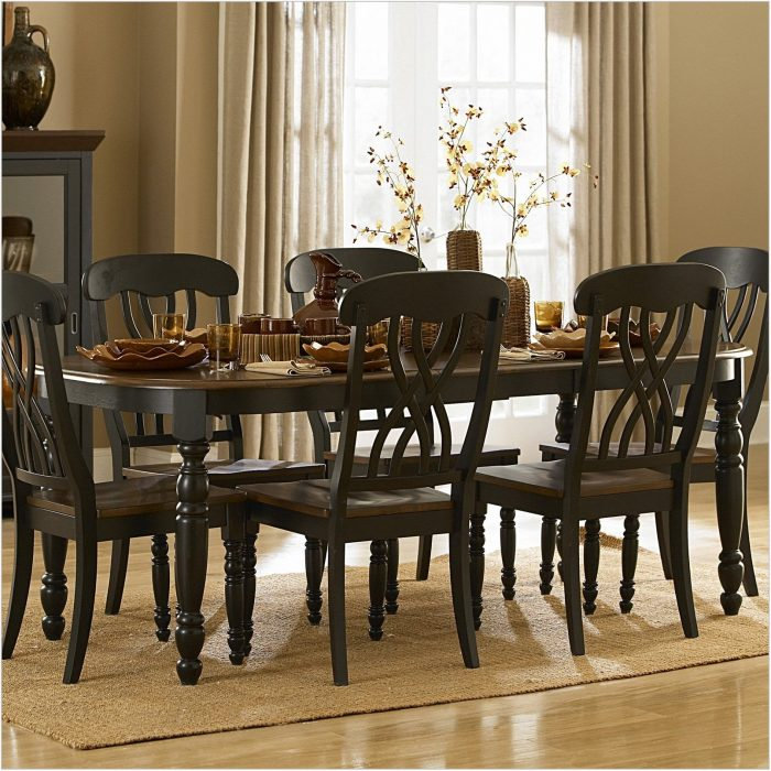 Black Country Dining Room Sets