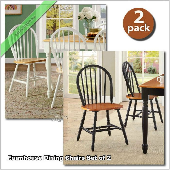 Black Farmhouse Dining Room Chairs