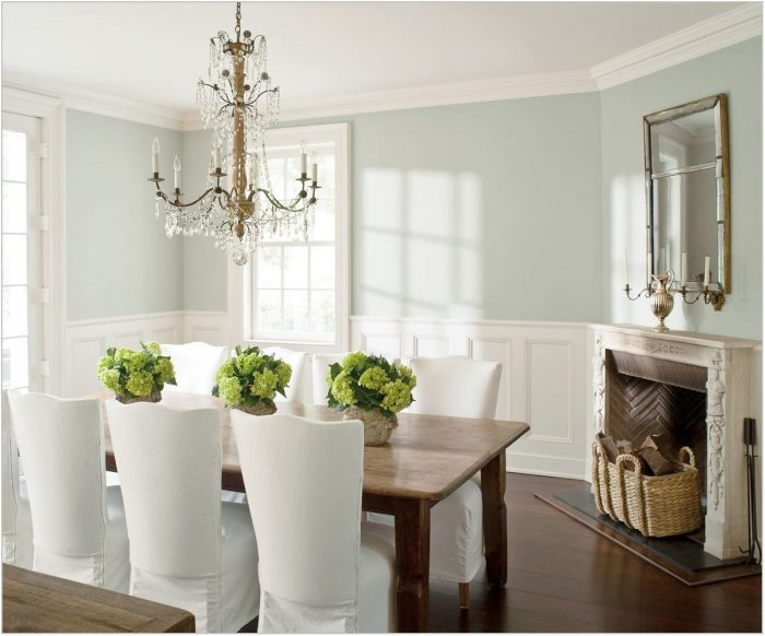 Blue Dining Room Colors
