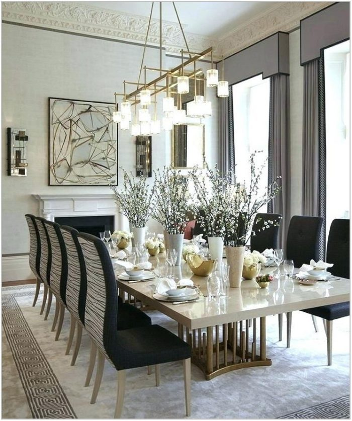 Brushed Gold Dining Room Chandelier