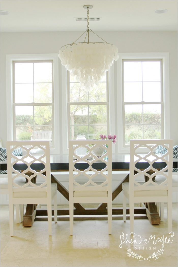 Capiz Chandelier Dining Room