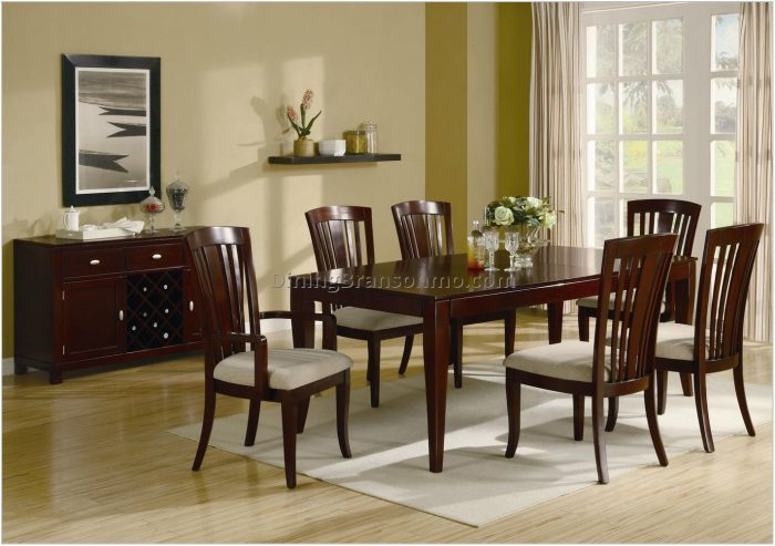 Cherry Wood Dining Room Table Sets