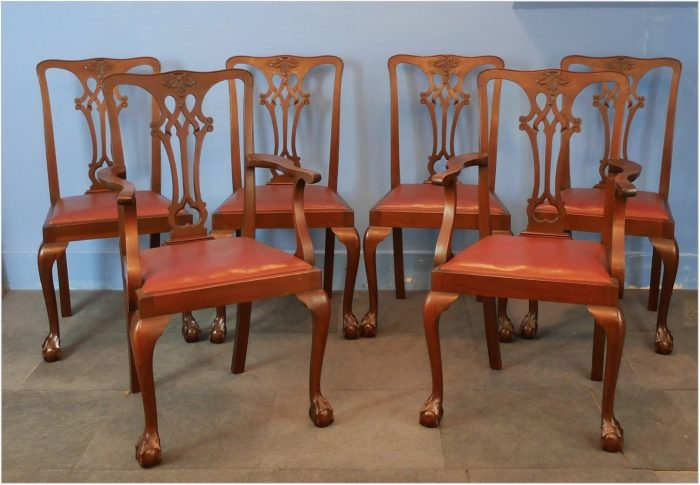 Chippendale Mahogany Dining Room Chairs