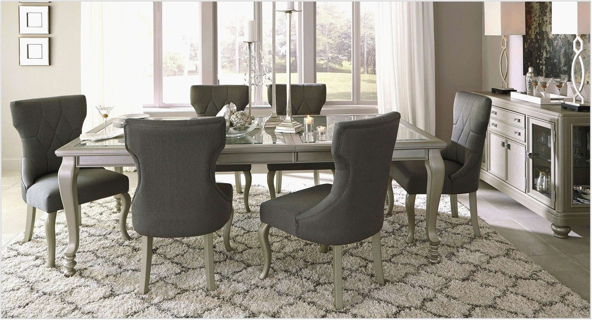 Circular Glass Dining Room Table