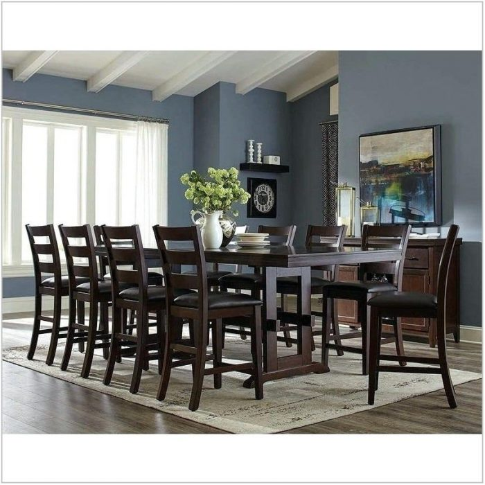Contemporary 11 Piece Dining Room Set