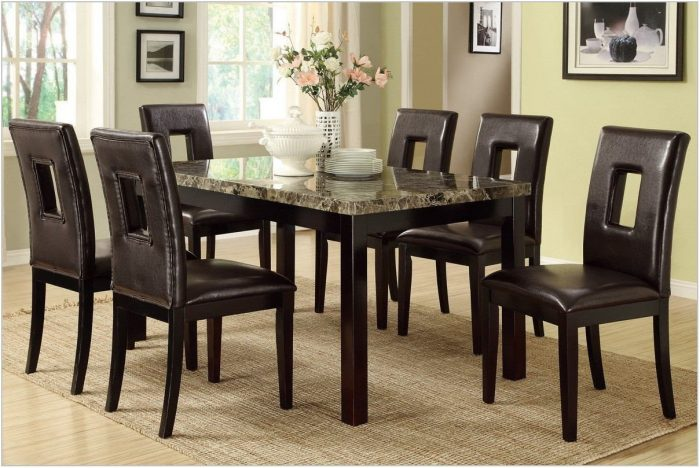 Dark Brown Dining Room Set