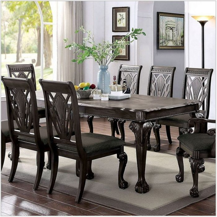 Dark Gray Dining Room Set