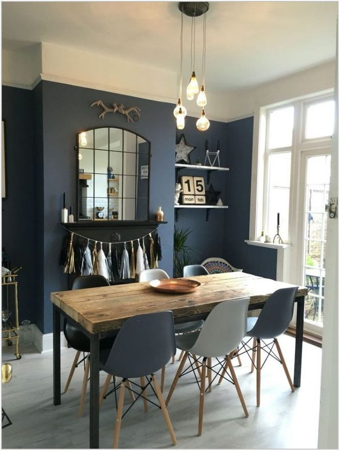 Dark Grey Dining Room