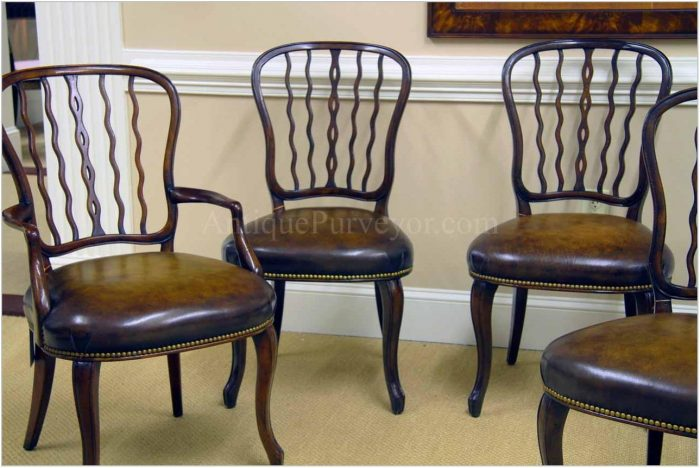 Dark Mahogany Dining Room Chairs