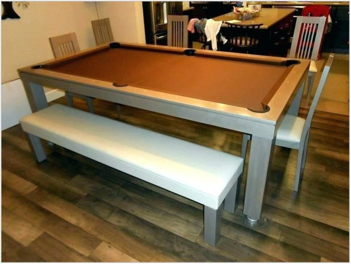 Dining Room Table Converts To Pool Table