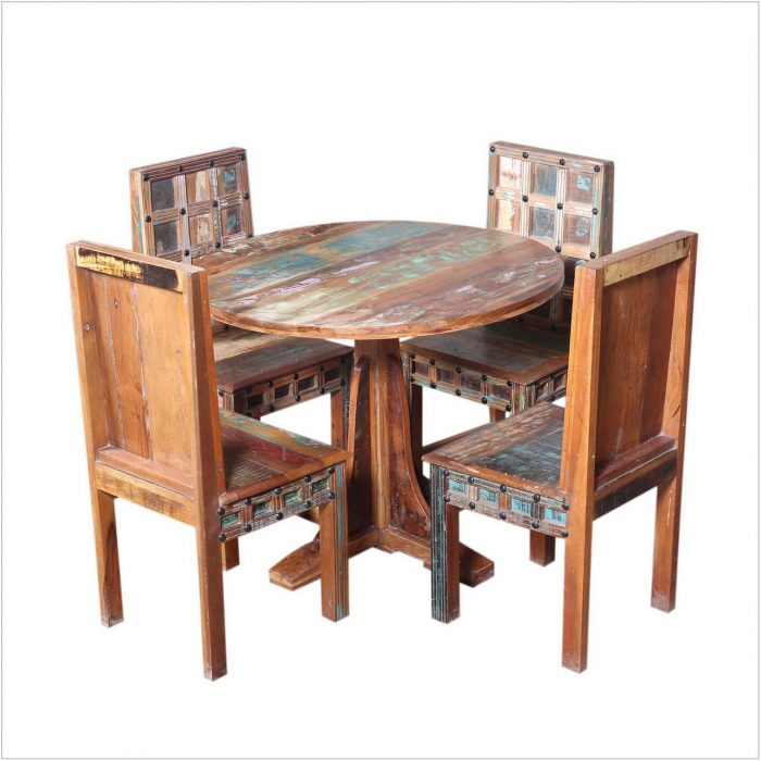 Distressed Wood Dining Room Sets