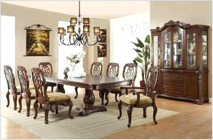 Formal Dining Room Sets 8 Chairs
