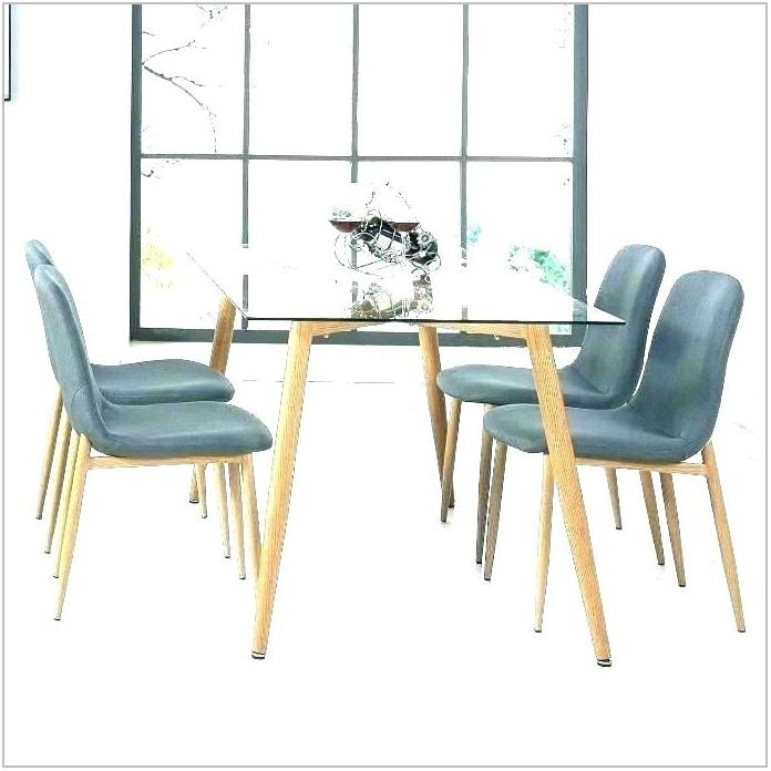 Glass Top Extendable Dining Room Table