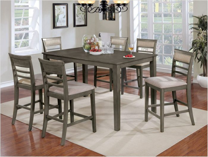 Gray 7 Piece Dining Room Set