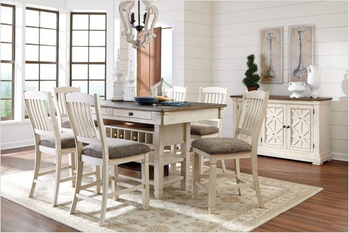 Gray And White Dining Room Set