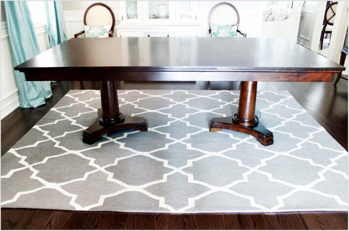 Gray Dining Room Rug